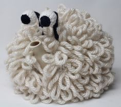 Dolly the Sheep hand knitted woolly tea cosy. by RupertsHouse