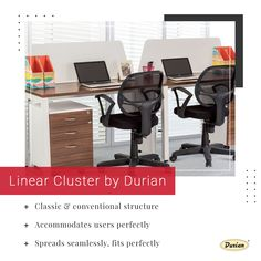Linear Clusters by #Durian fit everywhere. This classic design will fulfil all office needs while giving the best space to the team members. 👉 Get in touch with us to know more. Follow #Durian to get a sneak peek into great projects for offices. #durianforproject #durianfurniture #clusterseries #officefurniture #workspace #officechairs #officedesks #workproducitvity #officeneeds