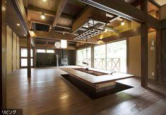 民家 再生 - Google 検索 Modern Japanese Interior, Japanese Modern, Japanese House, Modern Interior, Japanese Architecture, Modern Architecture, Wood Burner Stove, Irori, Good House