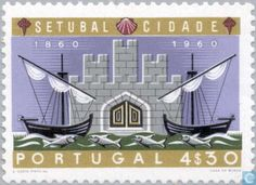 Stamp: Coat of arms of Setubal (Portugal) years city Setubal) Mi:PT 876 Setubal Portugal, Stamp Catalogue, Coat Of Arms, Postage Stamps, Growing Up, The 100, Poster, City, Collections