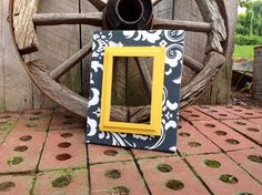 Fabric Covered Picture Frame Wood Frame Wedding by TheRedWoodBarn, $35.00