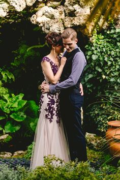 Phase Eight Dress Gown Purple Bride Beautiful Relaxed Surprise Wedding http://www.theimagegarden.co.uk/