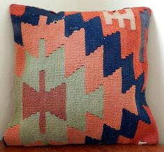 Pillow Cover Cushion Cover Decorative Pillow by TURKISHCARPETKILIM