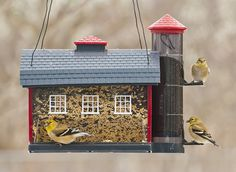 Amazon.com: Audubon Red Barn Combo Seed Bird Feeder Model 6290: Patio, Lawn & Garden