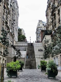 — Paris, escalier à Montmartre. Montmartre stairway by… Places Around The World, Oh The Places You'll Go, Places To Visit, Around The Worlds, Montmartre Paris, Paris Paris, Paris Travel, France Travel, Paris France