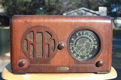 Knight Wooden Art Deco Radio