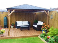 If you already have decking or a patio area but are looking to add some form of shelter, then the Utopia 300 Gazebo makes an attractive addition to any garden. It provides year-round protection from the hot summer sun and shelter from any passing showers.   #Gardenideas#Gardendesign #Gardenprojects #Gardeninspiration #Gazeboideasbackyard #Gazeboideas #WoodengazeboDIY #Woodengazeboideaspergolas #Woodengazeboideasbackyard #Woodengazeboideashowtobuild Backyard Gazebo, Pergola, Wooden Gazebo, Pressure Treated Timber, Back Garden Design, Garden Projects, Garden Ideas, Garden Buildings, Garden Theme