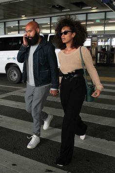 """millly: """"styledrop: """"Alan Ferguson and Solange Spotted in LA """" Dreams. Solange Knowles, Fashion Couple, Look Fashion, Fashion Outfits, Latest Fashion, Fashion Ideas, Fashion Tips, Couple Style, Stylish Couple"""