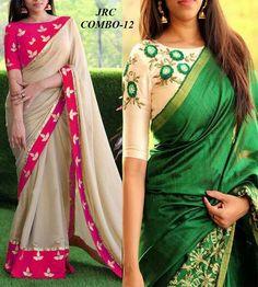 sarees Simple Blouse Designs, Saree Blouse Neck Designs, Stylish Blouse Design, Bridal Blouse Designs, Indian Designer Outfits, Indian Clothes, Work Blouse, India Beauty, Saree Collection