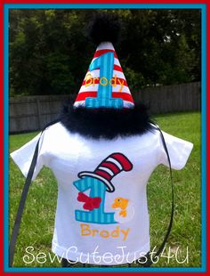 Dr. Suess Themed Personalized Birthday Number by SewCuteJust4U, $38.00