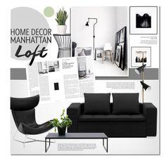 """The loft"" by anna-anica ❤ liked on Polyvore featuring interior, interiors, interior design, home, home decor, interior decorating and PLANT"
