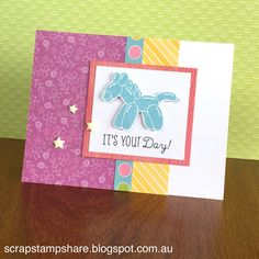 Scrap Stamp Share: Balloon Animals Stamp of the Month Australasian Blog Hop