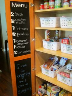 chalkboard menu - i want to do this!
