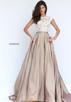 Sherri Hill Beaded Long Dress 50843