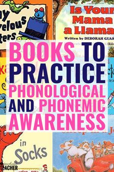 Teaching phonemic awareness can be overwhelming because kids need so much practice! There are many fun activities you can do with preschool, kindergarten and first grade students. I love these 10 book Phonics Books, Phonics Reading, Teaching Phonics, Phonics Activities, Teaching Reading, Teaching Resources, Phonics Videos, Abc Phonics, Guided Reading