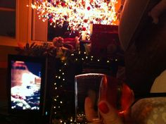 #wine #tv #gift #decorations #tree #christmas