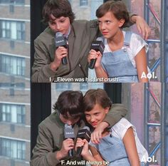 HOW ARE THEY SO CUTE - Finn Wolfhard and Millie Bobby Brown from Stranger Things talking about Mike and Eleven