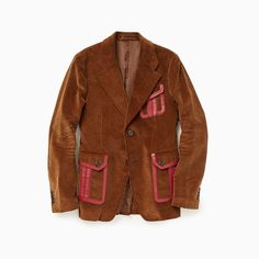 Only one designer could upend everything we thought we knew about corduroy, especially something as fusty as a corduroy jacket. Red Leather, Leather Jacket, Corduroy Jacket, The One, Gq, Prada, Bohemian, Seasons, Jackets