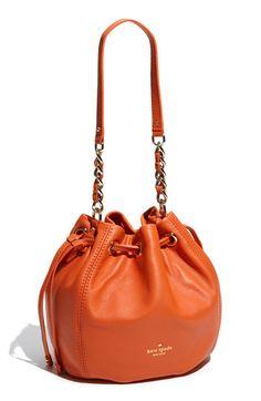 Orange purse for fall?  Cute Kate Spade drawstring shoulder bag.  Me likey!!