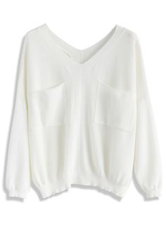 Leisure Fun Knit Top in White - New Arrivals - Retro, Indie and Unique Fashion