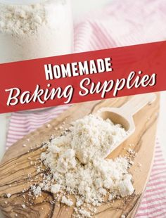 Check out this list of Homemade Baking Supplies as well as DIY recipes for grocery store swaps on food and cleaning supplies. Homemade Brownie Mix, Homemade Desserts, Delicious Desserts, Homemade Cleaning Supplies, Baking Supplies, Cleaning Hacks, Homemade Ranch Seasoning, Homemade Seasonings, Cleaners Homemade