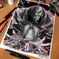 Fullmetal Alchemist Pencil Drawing by AtomiccircuS on deviantART