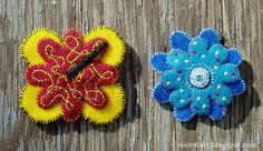 Felt Flower Brooch Templates. 5 templates to mix & match for many different styles.