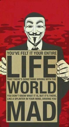 V for Vendetta.  Mandatory viewing, considering the political / social trends of the last 20 years or so!