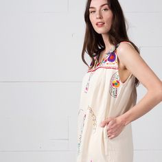 485bf8f2bd4 Handmade Mexican Embroidered Bohemian Dress by Erica Maree. Fiesta Dress