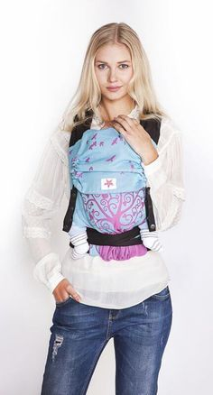 Bright light blue and flashy magenta give a unique baby carrier! Our most popular baby wrap design combines with this genius fullbuckle baby carrier. Short People, People Like, Baby Wraps, Unique Baby, Baby Wearing, Organic Cotton, Light Blue, Barn, Boutique