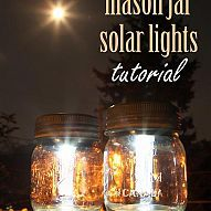 Using just three materials and a wee bit of time you will quickly have… :: Hometalkmason jar solar lights