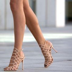 Nude Cage Sandals | so pretty!❤ Pinned by Cindy Vermeulen. Please check out my other 'sexy' boards. X