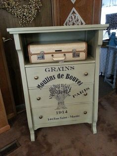 Revive a badly damaged dresser by rebuilding & painting.
