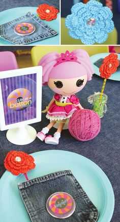 Lalaloopsy Party + Fabulous DIY Button Backdrop // ...