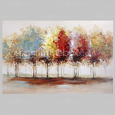 Peint à la main Paysages Abstraits Panoramique Horizontale,Moderne Un Panneau Toile Peinture à l'huile Hang-peint For Décoration de 2017 ? €63.79