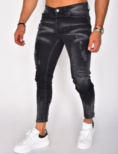 Jogging, Jeans Homme Fashion, Cargo Pants Men, Jeans Slim, Skinny, Pulls, Kids Outfits, Leather Pants, Black Jeans