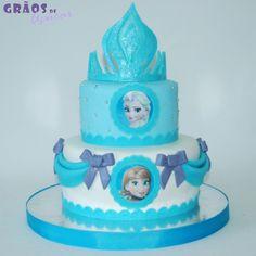 Frozen - Coroa - Grãos de Açúcar - Bolos decorados - Cake Design