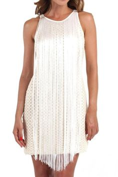 Distinctly sexy yet sophisticated sleeveless bohemian style mini dress from Italian couture Pin-Up Stars collection.