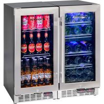 Quiet running glass door bar fridge energy efficient rhino great beer and wine 3 zone glass door bar fridge match compare price before you buy planetlyrics Choice Image