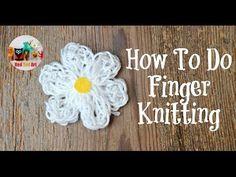 finger knitting. for long car rides????