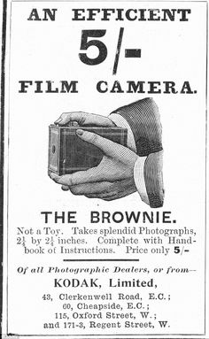 Groundbreaker: The Kodak Brownie camera, as advertised in The Illustrated London News in 1900