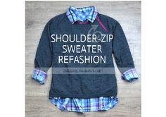 shoulderzipsweaterrefashion