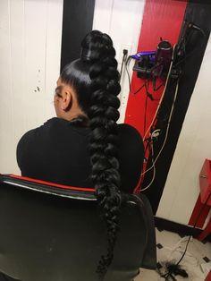 Best Indoor Garden Ideas for 2020 - Modern Long Hair Ponytail Styles, Sleek Ponytail, Ponytail Hairstyles, Weave Hairstyles, Pretty Hairstyles, Long Hair Styles, Weave Ponytail, Updos, High Ponytails