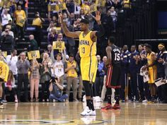 April 5, 2015: Paul George felt the love from the Indiana
