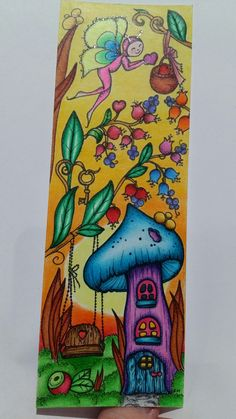 Karl Markova Tenderful Enchantments  bookmark included with the book. Faber-Castell Albrecht dürer water colours. Loved doing this little piece!