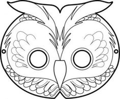 free printable masks: the owl Masque de Hibou Fall Crafts, Holiday Crafts, Printable Masks, Free Printable, Owl Mask, Diy Masque, Owl Birthday Parties, Mask Template, Nocturnal Animals
