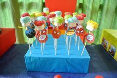 decorare base polistirolo x cake pop supereroi - Cerca con Google