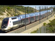 high speed train in french (TGV) on the LGV Med