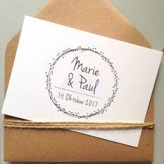 """Einladungskarten - Hochzeitseinladung """"Dots"""" auf Recyclingkarton - ein Designerstück von papeteriejolie bei DaWanda"""
