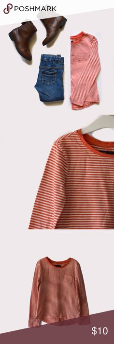 "Gap Kids Striped Top for Girl GapKids | size S (6-7) | striped pattern throughout | long sleeves | al pictures taken by me product shown as is | BUNDLE TO SAVE! I accept offers on bundles only. 10% off of 2 or more items. Items priced at $7 are the lowest price. Click on the ""Thinking of Making an Offer"" post for more Info. GAP Shirts & Tops Tees - Long Sleeve"